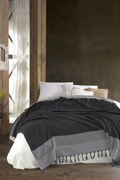 Artemis Siyah Beyaz Peştamal Dokuma Yatak,Pike,Piknik,plaj,koltuk Örtüsü