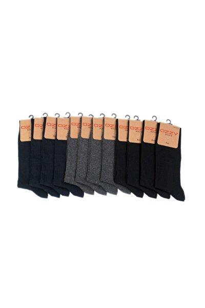 Erkek Çok Renkli Dikişsiz Soket Çorap 12 Li