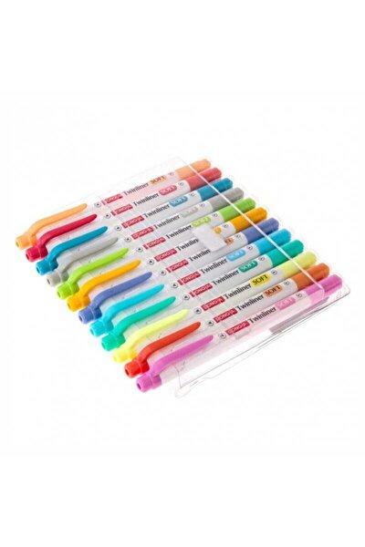 Donga Twinliner Soft Bright 24 Renk Çift Taraflı Fosforlu Kalem