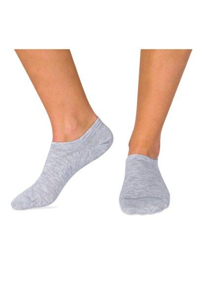 7 Çift Bambu Kısa Çorap Gri Patik Soket Ve Dikişsiz Çorap