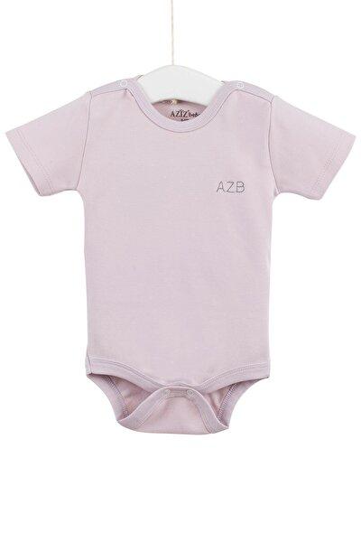 Kız Bebek Çıtçıtlı Kısa Kollu Body 0-12 Ay Azz001725-1
