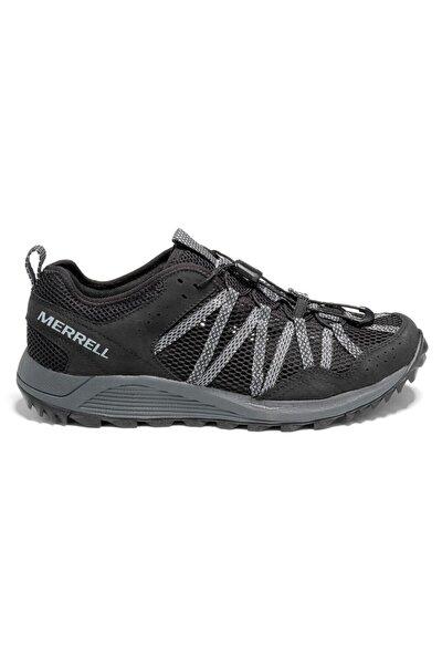 Erkek Siyah Bağcıklı  Spor Ayakkabısı