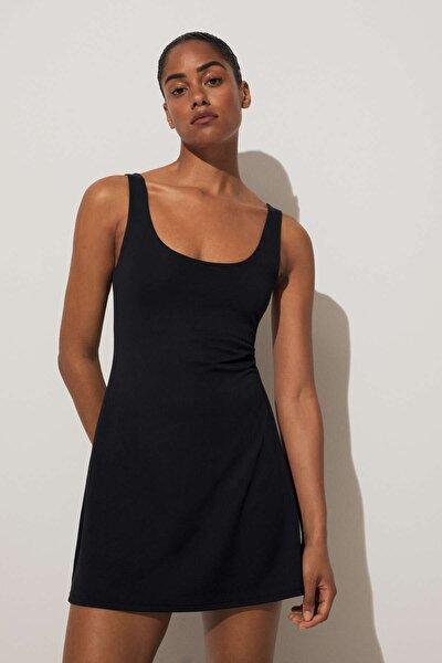 Kadın Siyah Compressive Elbise