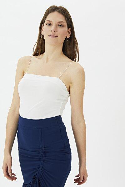 Beyaz Askılı Örme Bluz TWOSS21BZ2010