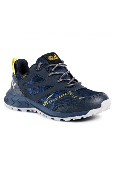 4042161 Woodland Texapore Low K Dark Blue/yellow Outdoor Ayakkabı
