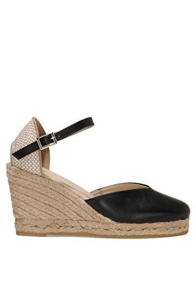 Amatıso 1fx Siyah Kadın Dolgu Topuklu Sandalet