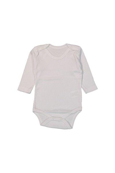 Bebek Beyaz Uzun Kol Bebe Boy Çıtçıtlı Zıbın
