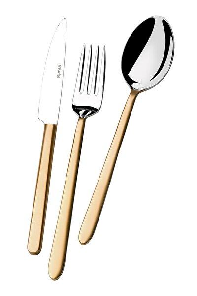 Pladies Serisi - Mat Altın - 36 Parça Çatal Kaşık Bıçak Takımı