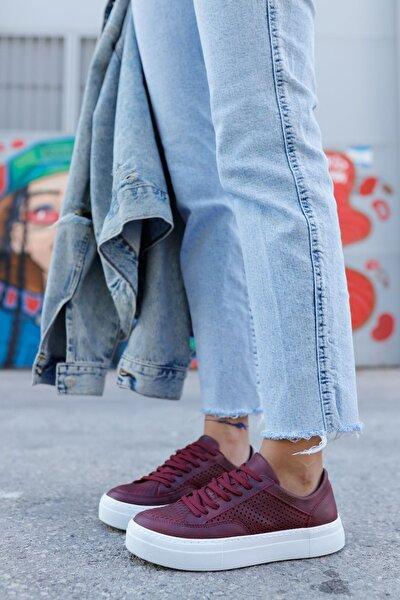 Ch015 Bt Kadın Ayakkabı Bordo