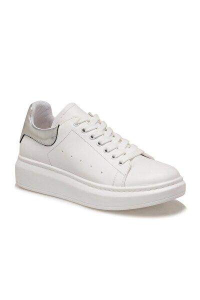ADELİTAS Beyaz Kadın Havuz Taban Sneaker 100583020