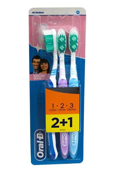Diş Fırçası 3 Efect Delicate Whıte Medıum 40 2+1