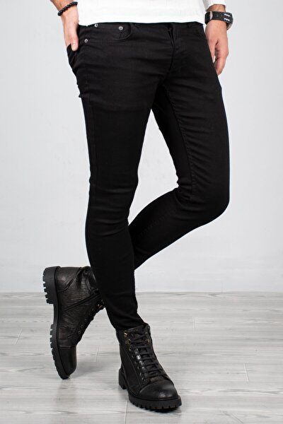 Siyah Erkek Beş Cep Kot Pantolon 2004157