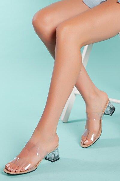 Kadın Şeffaf Topuklu Terlik Gzhw712
