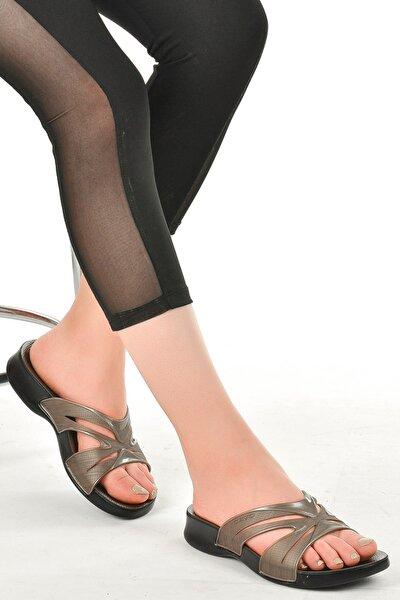 Kadın Bronz Günlük Anatomik Terlik Ayakkabı 3400 14