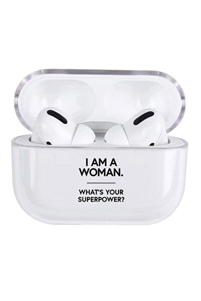Woman Tasarımlı Şeffaf Silikon Airpods Pro Kılıfı