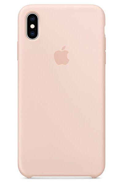 Iphone Xs Max Kılıf Silikon Içi Kadife Lansman Toz Pembe