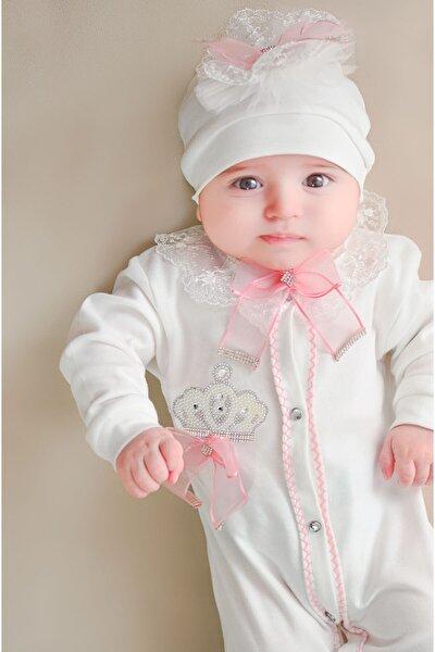 Işıltılı Kral Taçlı Güpürlü Kız Bebek Set