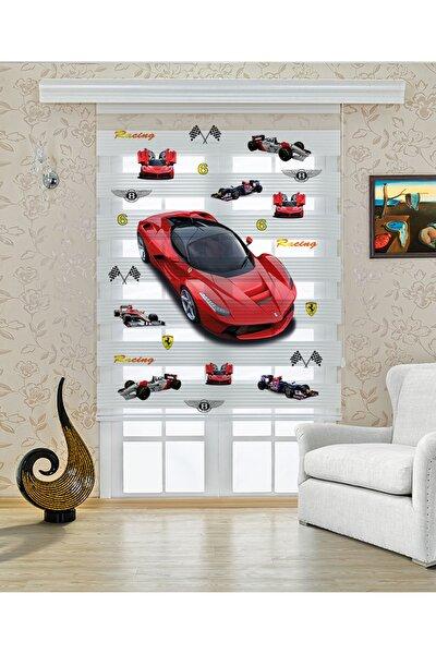 Ferrari Baskı Zebra Perde
