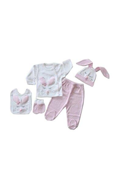 Kız Bebek 5 Parça Hastane Çıkışı Seti 100763