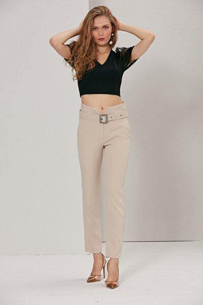 Kadın Bej V Pantolon