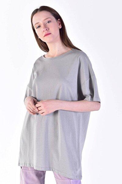 Kadın Gri Basic T-shirt