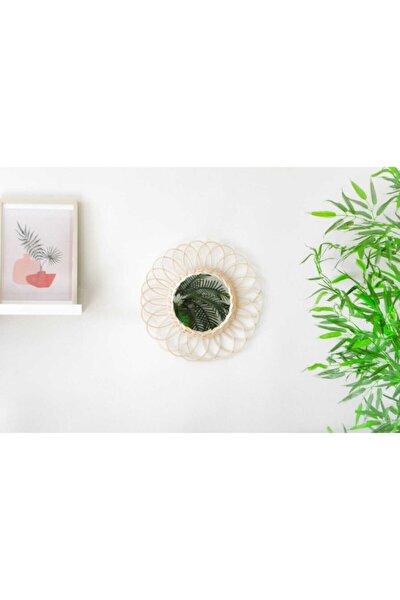 Rattan Bambu Hasır Ayna