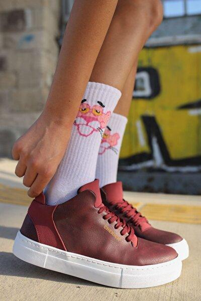 Ch004 Bt Kadın Ayakkabı Bordo