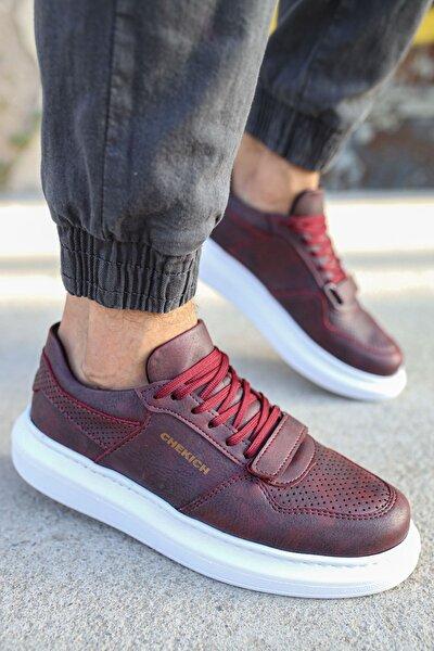 Ch073 Bt Erkek Ayakkabı Bordo