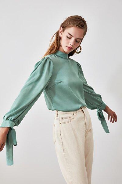Mint Bağlama Detaylı  Bluz TOFAW19FG0082