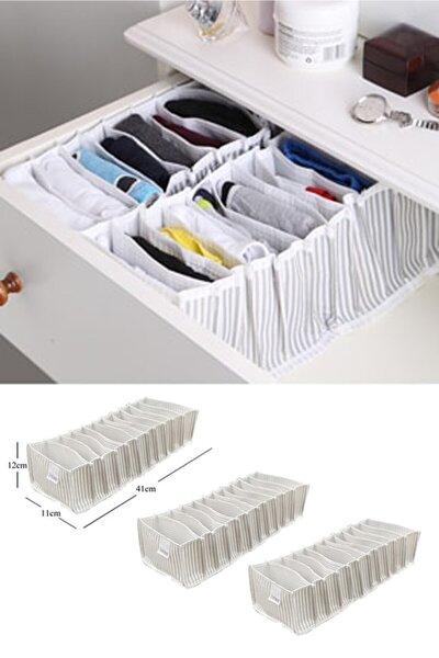 3 Adet Çekmece Içi Akordiyon Organizer-10x40x12 Cm* 3 Adet
