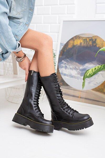 Siyah Cilt Kadın Çizme Md1025-117-0001