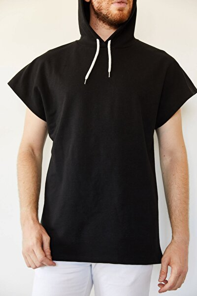 Erkek Siyah Kolsuz Sweatshirt 0yxe8-44068-02