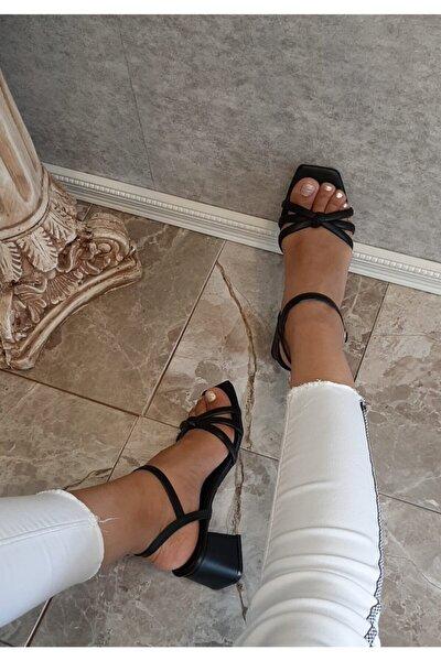 Siyah Kadın Sandalet 500602