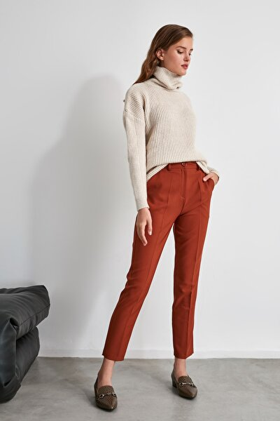 Kahverengi Basic Pantolon TWOSS19ST0038