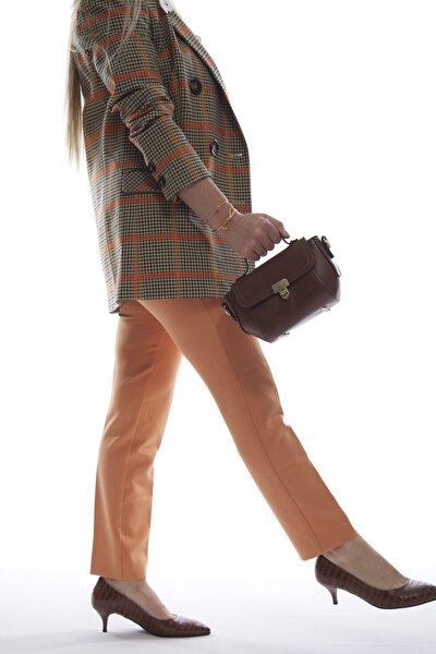 Kadın Taba Mini Fermuarlı Kapaklı Askılı Omuz ve El Çantası Fb3013