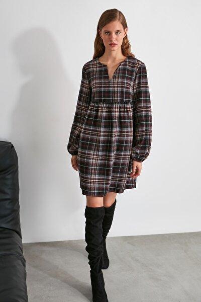 Çok Renkli Geniş Kesim Elbise TWOAW21EL1247