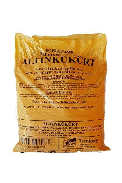 Altın Kükürt Elementel Toz Kükürt 25 kg