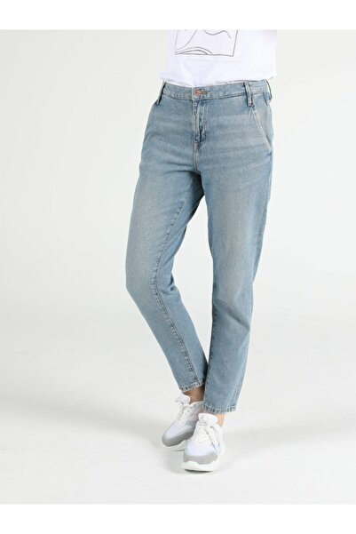 Tesa Chıno Orta Bel Rahat Kesim Paça Kadın Jean Pantolon