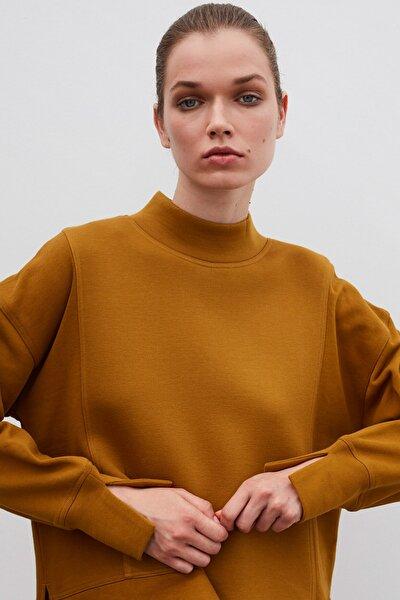 Kadın Yeşil Oversize Sweatshirt IW6200091032