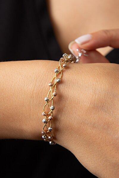 Kadın Dorika Toplu 925 Ayar Gümüş Bileklik
