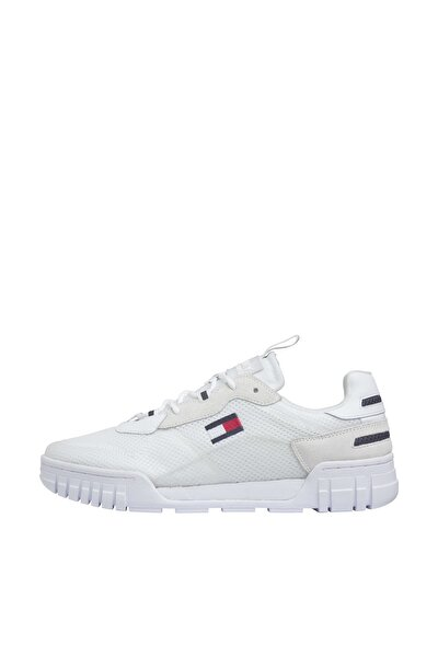 Erkek Beyaz Sneaker Retro Mesh Sneaker EM0EM00398