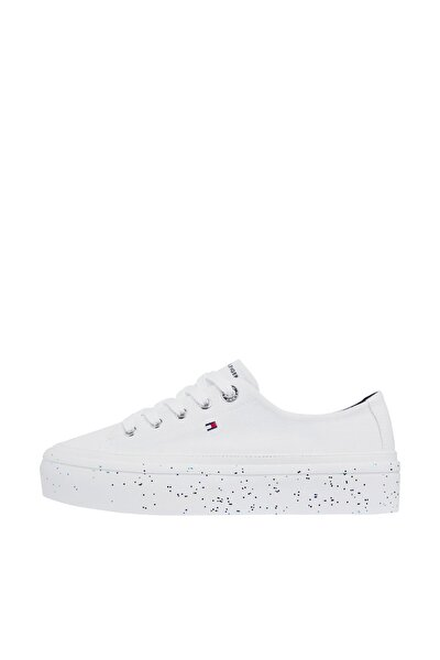 Kadın Beyaz Sneaker Glıtter Flatform Sneaker FW0FW04693