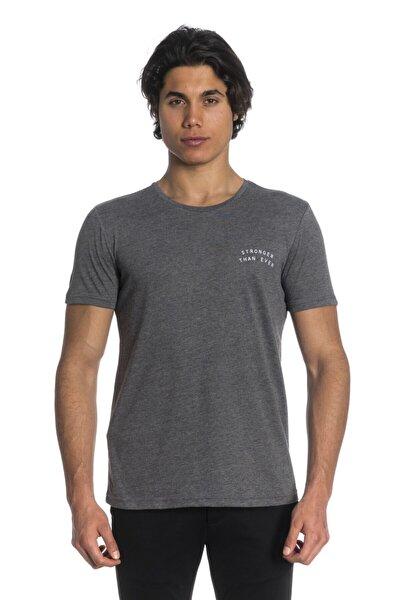 Erkek Gri Slim Fit T-Shirt