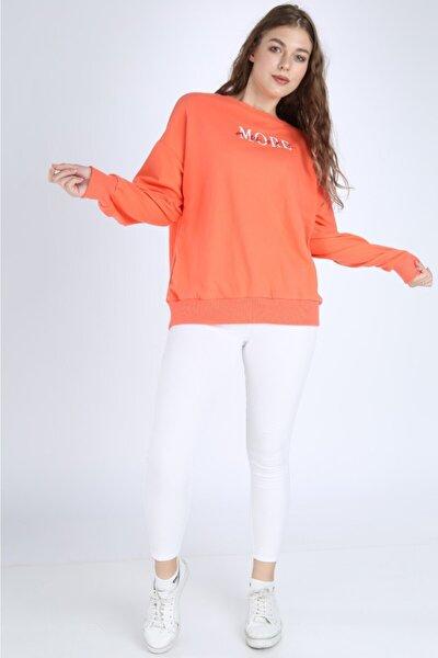 Kadın Turuncu More Sweatshirt Zdg-000241
