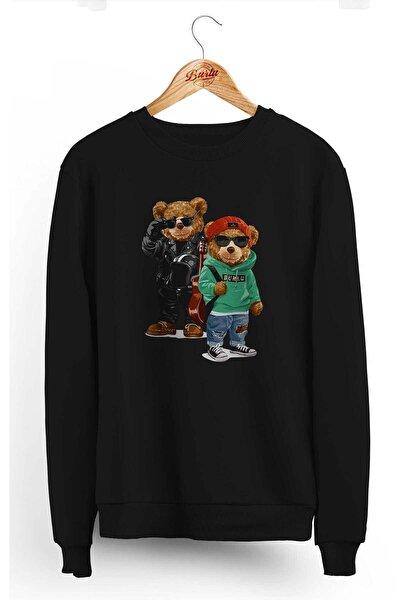 Unisex Siyah Kanka Cool Ayılar Sweatshirt