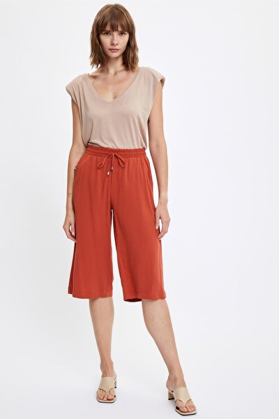 Kadın Orange Rahat Kesim Kapri Pantolon S8702AZ20HS