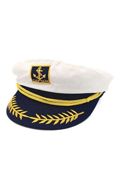 Denizci Model Unisex Yuvarlak Kaptan Şapkası