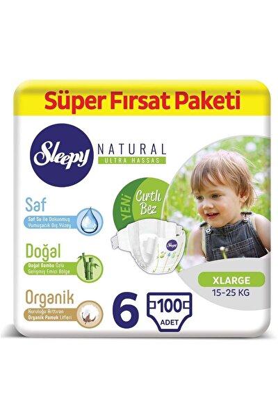 Natural Bebek Bezi 6 Numara Xlarge Süper Fırsat Paketi 100 Adet
