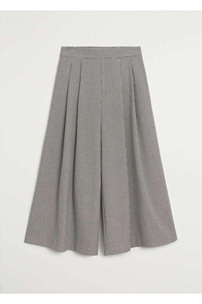 Kadın Gri Pilili Pantolon Etek