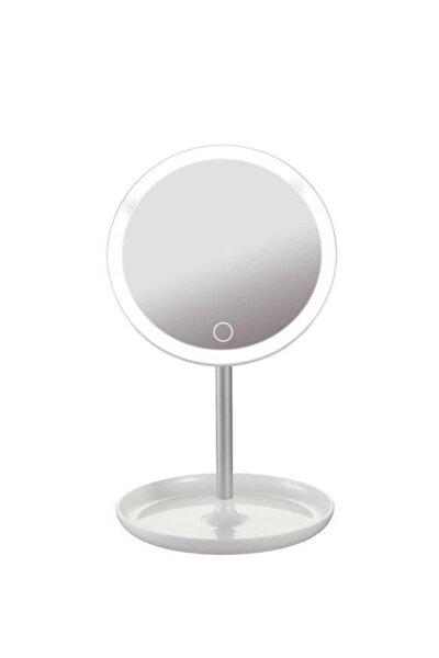 Depoma Dokunmatik Led Işıklı Usb Li Yuvarlak Masa Üstü Makyaj Aynası